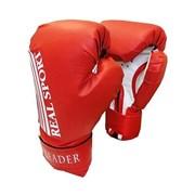 Перчатки боксерские Leader 10 унций красные