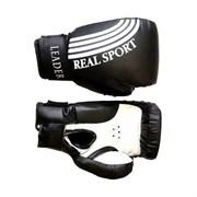 Перчатки боксерские  Leader 10 унций, черный