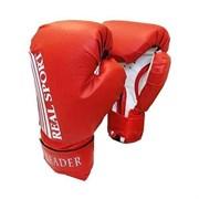 Перчатки боксерские Leader 4 унций красный