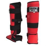 Защита голень-стопа Green Hill Battle SIB-0014 красная р.M