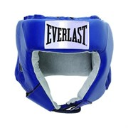 Шлем открытый Everlast Usa Boxing 610206U  кожа синий р.М
