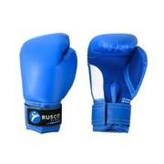 Перчатки боксерские детские Rusco  6 унций к/з синий