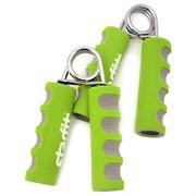 Эспандер кистевой пружинный Starfit ES-304 пара мягкая ручка, зеленый/серый