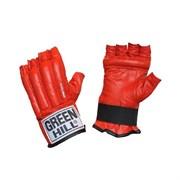 Перчатки снарядные Green Hill Royal CMR-2076 шингарты кожа, красные р.S