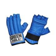 Перчатки снарядные Green Hill Royal CMR-2076 шингарты кожа, синие р.XL