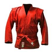 Куртка для самбо Green Hill JS-302 (Рост 00/120, красный, р.28)