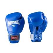 Перчатки боксерские Reyvel RV-101 8 унций к/з синие