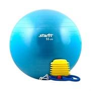 Мяч гимнастический Starfit GB-102 с насосом 55 см антивзрыв, синий