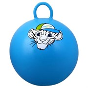 "Мяч-Попрыгун Starfit GB-402 ""тигренок"" 55 см с ручкой, синий"