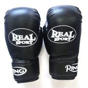 Перчатки   боксерские Realsport 12 унций, черный