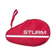 Чехол для ракетки для настольного тенниса CS-01, для одной ракетки, красный Sturm