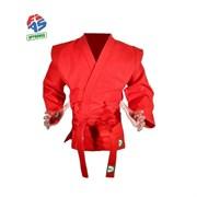 Куртка для самбо Green Hill JS-303-46-RD (Рост 3,5/165, красный, р.46)