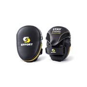 Лапа боксерская Effort E 602-2 черный