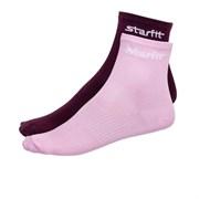 Носки средние Starfit SW-206 р.39-42 2 пары бордовый/светло-розовый