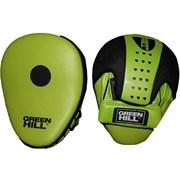 Лапы боксерские изогнутые Green Hill арт.FM-5250 синт. кожа, зелено-черные