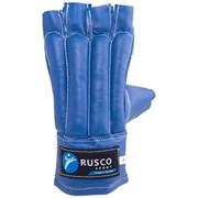 Перчатки снарядные, шингарты Rusco кожзам, синий р.XL