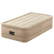 "Односпальная надувная кровать Intex 64456 ""ultra Plush bed"" + насос (191х99х46см)"