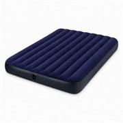 Двуспальный надувной матрас Intex 64765 Classic Downy + насос + 2 подушки (152х203х25см)
