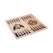 "Игра 3 в 1 (Шахматы, шашки, нарды) ""рыцари"" большая арт.255-18"