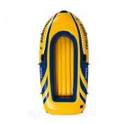 Двухместная надувная лодка Intex 68367NP Challenger-2 Set (Пластиковые вёсла и насос)