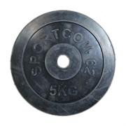 Диск обрезиненный черный Спортком d-26 5 кг