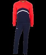 Тренировочный костюм JCS-4201-921, хлопок, темно-синий/красный/белый