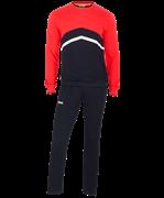 Тренировочный костюм JCS-4201-621, хлопок, черный/красный/белый