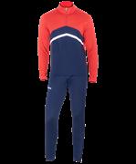 Костюм тренировочный JPS-4301-921, полиэстер, темно-синий/красный/белый