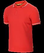 Поло JPP-5101-021, красный/белый