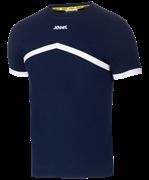 Футболка тренировочная детская JCT-1040-091, хлопок, темно-синий/белый, детская