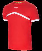 Футболка тренировочная детская JCT-1040-021, хлопок, красный/белый, детская