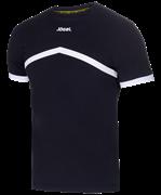 Футболка тренировочная JCT-1040-061, хлопок, черный/белый