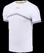 Футболка тренировочная JCT-1040-018, хлопок, белый/серый