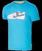 Футболка JCT-5202-071, хлопок, синий/белый