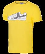 Футболка JCT-5202-041, хлопок, желтый/белый