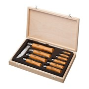 Набор Opinel в деревянной коробке из 10 ножей разных размеров из углеродистой стали
