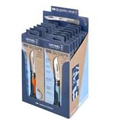Набор-дисплей Opinel, 14 ножей №8 Outdoor Earth из нержав стали, 7 синих + 7 оранжевых