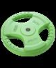Диск обрезиненный BB-201, d=26 мм, зеленый, 10 кг - фото 44653