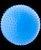 Мяч гимнастический массажный GB-301 65 см, антивзрыв, синий - фото 44684