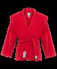 Куртка для самбо JS-302, красная, р.0/130 - фото 46062