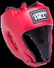 Шлем открытый Alfa HGA-4014, кожзам, красный - фото 46119
