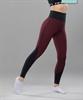 Женские спортивные леггинсы Balance FA-WH-0107, бордовый - фото 54321