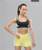 Женский спортивный бра-топ Intense PRO FA-WB-0102, черный/желтый - фото 54780
