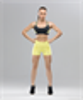 Женский спортивный бра-топ Intense PRO FA-WB-0102, черный/желтый - фото 54781