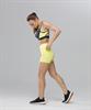 Женский спортивный бра-топ Intense PRO FA-WB-0102, черный/желтый - фото 54783