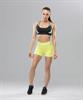 Женский спортивный бра-топ Intense PRO FA-WB-0102, черный/желтый - фото 54784