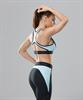 Женский спортивный бра-топ Intense PRO FA-WB-0102, черный/голубой - фото 54806