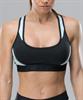 Женский спортивный бра-топ Intense PRO FA-WB-0102, черный/голубой - фото 54808